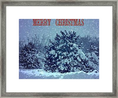 Merry Christmas Snow Framed Print by Dan Sproul