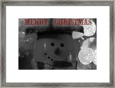 Merry Christmas Snowman Framed Print by Dan Sproul