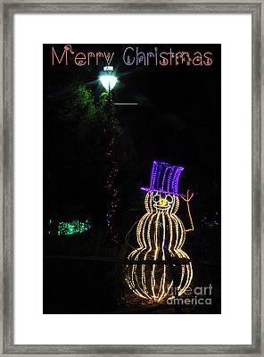 Merry Christmas Snowman Framed Print