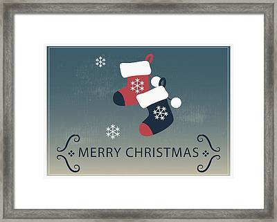Merry Christmas Stocking Stuffers Framed Print