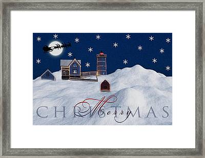 Merry Christmas Framed Print by Susan Candelario