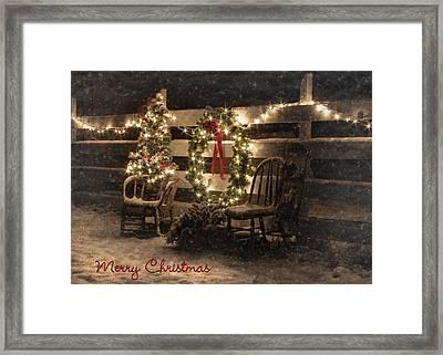 Merry Christmas To All Framed Print by Lori Deiter