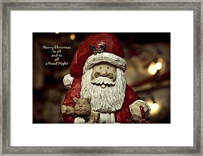 Merry Christmas To All Framed Print by Trish Tritz