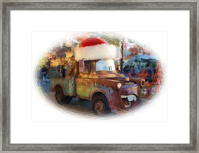 Merry Christmas Tow Mater  Framed Print by Heidi Smith