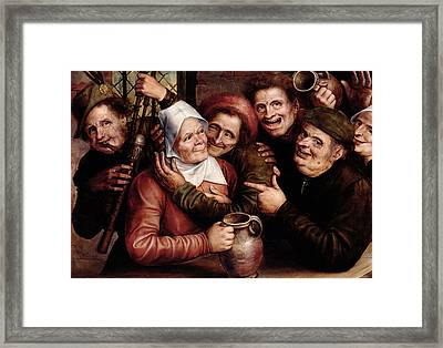 Merry Company Framed Print by Jan Massys or Metsys
