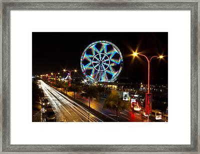 Merry Ferris Wheel Framed Print by Troy Espiritu