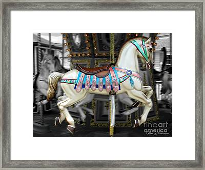 Merry Go Round Framed Print by Colleen Kammerer