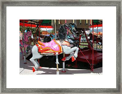 Framed Print featuring the photograph Merry-go-round Horse by Mary M Collins