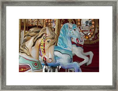 Merry-go-round Horses At Indiana State Framed Print by Jaynes Gallery
