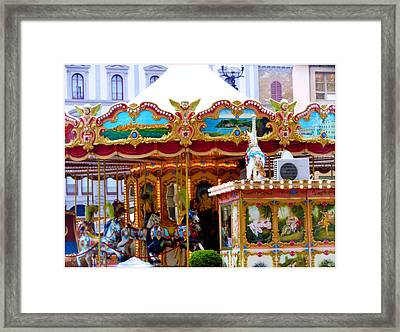 Merry Go Round Framed Print by Mindy Newman