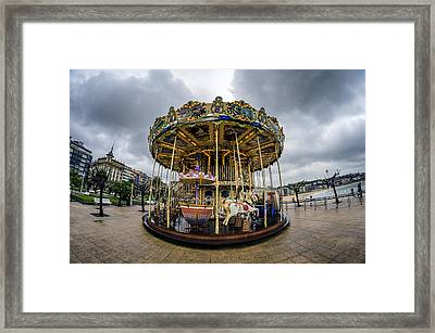 Merry-go-round Framed Print by Pablo Lopez