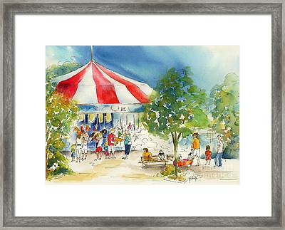 Merry Go Round Framed Print by Pat Katz