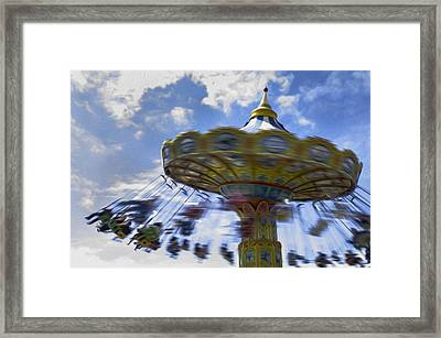 Merry Go Round Swings Framed Print