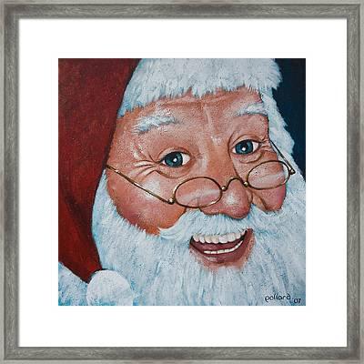 Merry Santa Framed Print