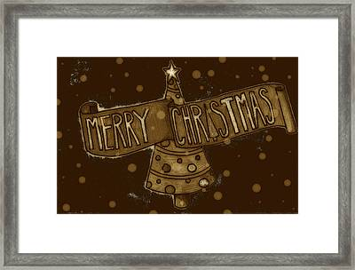 Merry Sepia Christmas Framed Print by Jame Hayes