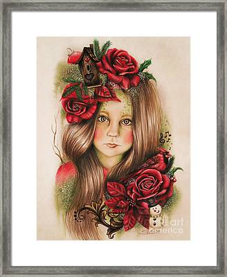 Framed Print featuring the drawing Merry by Sheena Pike