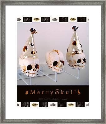 Merry Skulls Framed Print