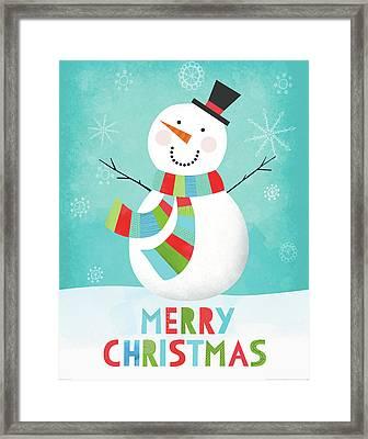 Merry Snowman IIi Framed Print