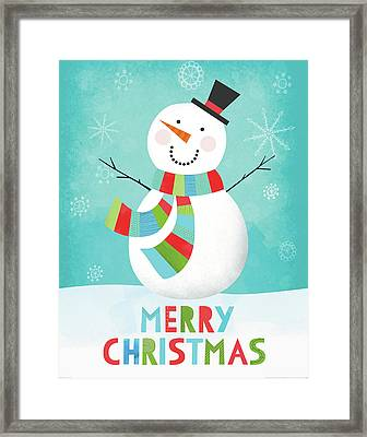 Merry Snowman IIi Framed Print by Lamai Mccartan