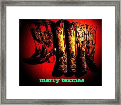Merry Texmas Framed Print