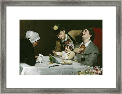 Merrymakers Framed Print by Charles Emile Auguste Carolus-Duran
