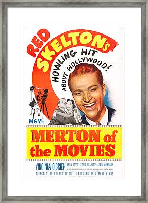 Merton Of The Movies, Us Poster, Red Framed Print by Everett