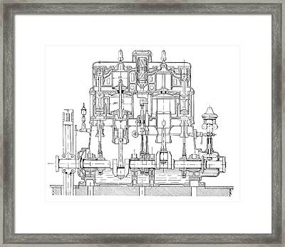 Mertz Steam Engine Framed Print by Science Photo Library