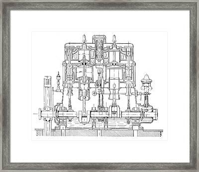 Mertz Steam Engine Framed Print