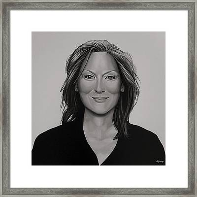 Meryl Streep Framed Print by Paul Meijering