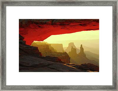 Mesa Arch, Canyonlands National Park Framed Print by Michel Hersen
