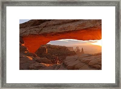 Mesa Arch Framed Print by Doug Andrews