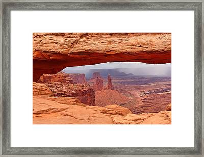 Framed Print featuring the photograph Mesa Arch In Canyonlands National Park by Mitchell R Grosky