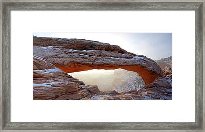 Framed Print featuring the photograph Mesa Arch Looking North by David Andersen
