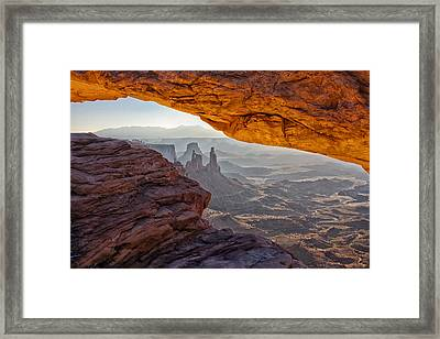 Mesa Arch Framed Print by Mark Kiver