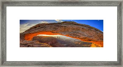 Mesa Arch Panoramic Framed Print by Peter Irwindale