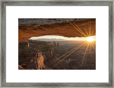 Mesa Arch Sunrise 4 - Canyonlands National Park - Moab Utah Framed Print by Brian Harig