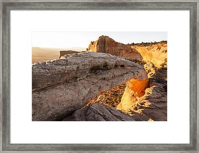 Mesa Arch Sunrise 6 - Canyonlands National Park - Moab Utah Framed Print by Brian Harig