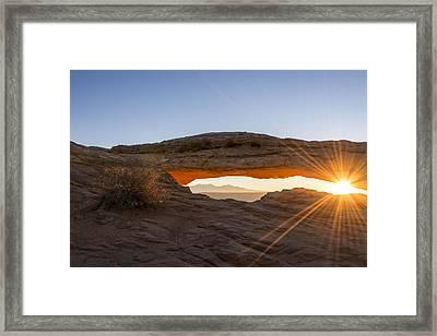 Mesa Arch Sunrise 7 - Canyonlands National Park - Moab Utah Framed Print by Brian Harig