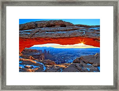 Mesa Arch Sunrise Framed Print
