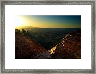 Mesa Arch Without The Arch Framed Print