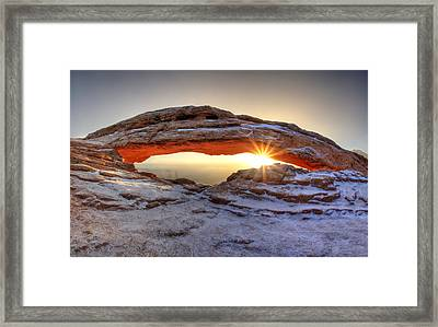 Framed Print featuring the photograph Mesa Sunburst by David Andersen