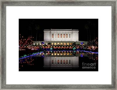 Framed Print featuring the photograph Mesa Temple by Ruth Jolly