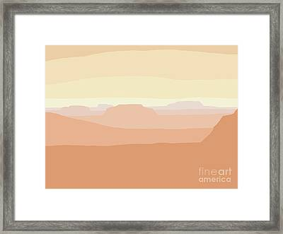 Mesa Valley Framed Print