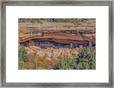 Mesa Verde Cliff Dwelling Framed Print by Paul Freidlund