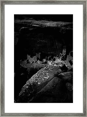 Framed Print featuring the photograph Mesa Verde Edged Into The Light by David Bailey