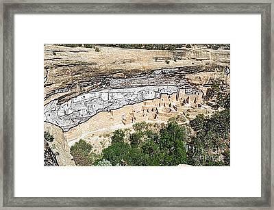 Mesa Verde National Park Cliff Palace Anasazi Ruin Colored Pencil Framed Print