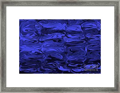 Mesmerizing Deep Blue Framed Print by Carol Groenen