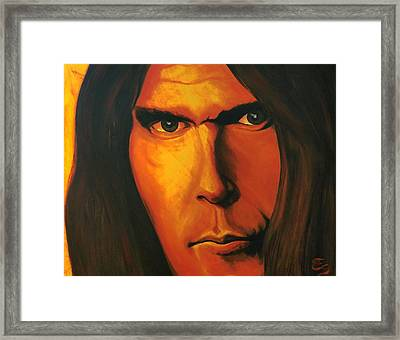 Mesmerizing Eyes   Niel Young Framed Print
