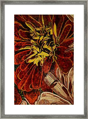 Mesmerizing Sparkling Vivacious Ceramic Tile Mosaic Framed Print