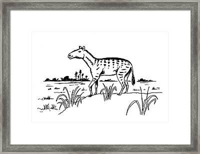 Mesohippus Prehistoric Horse Framed Print by Richard Bizley
